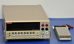 Keithley 2001 7 5 Digit Multimeter With Scan Card Nist Calibrated And Warranty