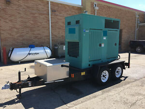 Cummins 50 Kw Portable Diesel Generator 1 295 Hours Ready To Go