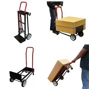 Milwaukee Convertible Hand Truck Dolly Trolley Folding Moving Cart 500 Lb Load