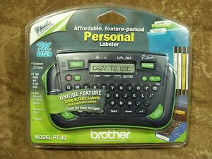 Brother P touch Personal Labeler Model Pt 80 New In Open Package Free Shipping