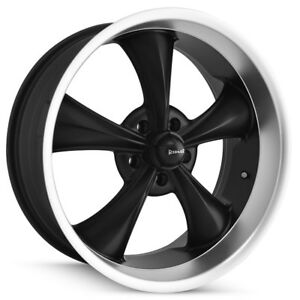Staggered Ridler 695 Front 18x8 rear 18x9 5 5x127 5x5 0mm Black Wheels Rims