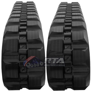 Two Rubber Tracks For John Deere 8875 W Loegering Vts 450x86x60 Block Tread