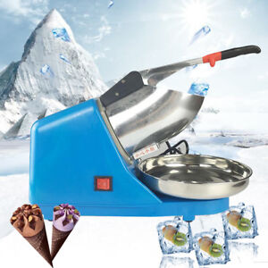 Electric Ice Shaver Crusher Smoothie Machine Snow Cone 65kg h Maker Us Stock