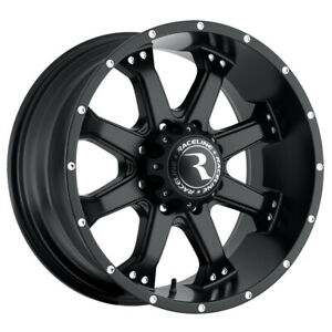 4 New 16 Inch Raceline 991b Assault 16x8 8x6 5 0mm Matte Black Wheels Rims