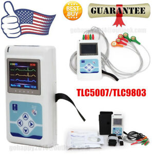 Usa Portable 3 channel 24h Ecg Holter Analyzer System Recorder Monitor software