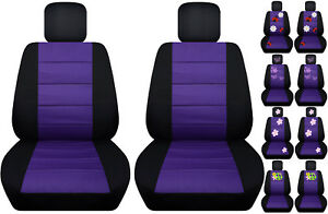 Vw Beetle Front Car Seat Cover Black Purple W Daisy Ladybug Hibiscus Butterfly