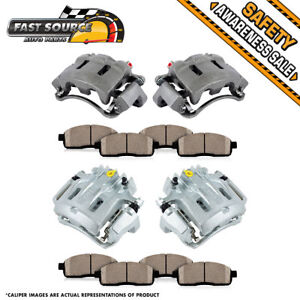 Front Rear Brake Calipers Ceramic Pads For Excursion F 250 F 350 Super Duty