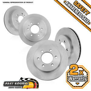 Front And Rear Quality Oe Brake Rotors Fits 2006 2009 Nissan Patrol
