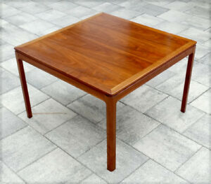 1960 S Dux Vintage Mid Century Wood Coffee Table Danish Modern Eames
