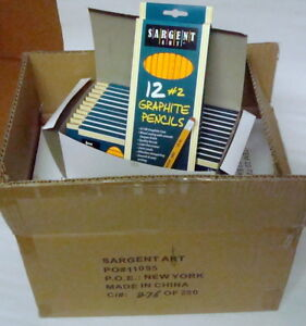 Case Of 864 Sargent Art 2 Graphite Pencils 22 7291