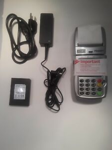 First Data Fd400 Gt Credit Card Terminal Reader Power Supply And Battery