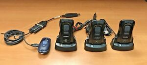 4pc Lot 3 Motorola Cs3070 Barcode Scanner W bases Symbol Free Ship