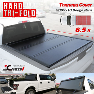 Tonneau Cover 2009 2018 Dodge Ram 6 5 Ft 1500 2500 Hard Tri fold Truck Bed Cover