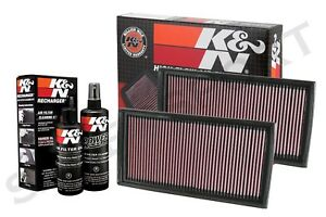 Two K N 33 2405 Air Intake Filters W Cleaning Kit For Mercedes Amg See Detail