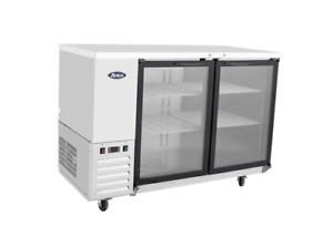 New Stainless 58 2 Glass Door Back Bar Beer Cooler Free Shipping