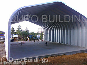 Durospan Steel 20x40x16 Metal Prefab Building Shed Kit Open Ends Factory Direct