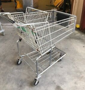 Lot Of 9 Used Surplus Supermarket Shopping Carts Tampa Bay Area