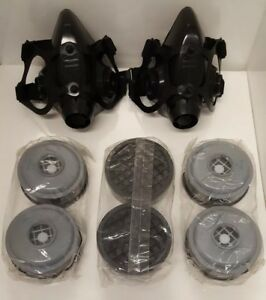 North Two 2 Half face Respirator Masks 3 Sets Of Cartridges 7500 1 7700 30m
