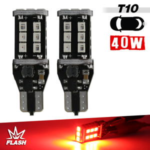 T10 921 Red Flashing Strobe High Power Led High Mount Stop 3rd Brake Light Bulbs
