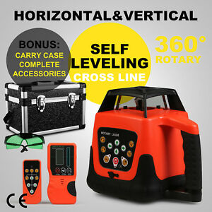 Rotary Laser Level Green Beam Building 5 Degree Remote Control Professional
