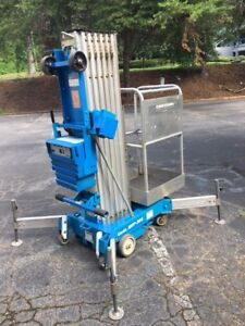 Genie Lift Model Awp 30 s 30 Ft Electric Mast Personnel Manlift