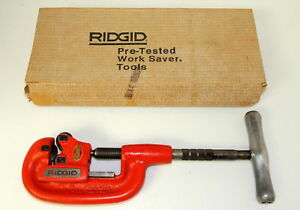 Ridgid 1 a Heavy Duty Pipe Cutter 1 4 To 1 1 4 Inch 32810 New