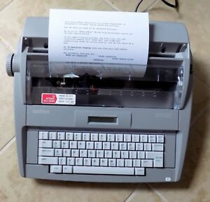 Brother Sx 4000 Electronic Lcd Display Typewriter Dictionary Correct Spellcheck