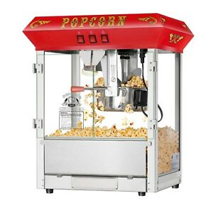 Superior Red 8oz Hot Fresh Countertop Style Popcorn Popper Machine 8 Ounce