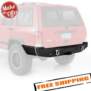 Smittybilt 76850 Xrc Rear Bumper With Hitch For 1984 2001 Jeep Cherokee