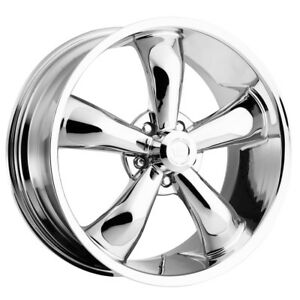 4 18 Inch Vision 142 Legend 5 18x8 5 5x115 20mm Chrome Wheels Rims