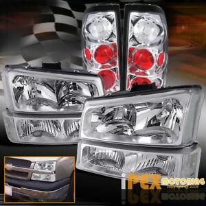 2003 2006 Chevy Silverado 1500 2500hd 3500 Chrome Headlights Signals Tail Lights