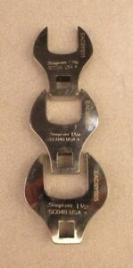 3 Pc Snap On 1 2 Drive Open End Crowfoot Wrench Set