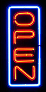 Neon Open Sign Light Bright Big Size Restaurant Store Business Liquor Vertical