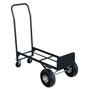 Convertible Folding Hand Truck 4 Wheeled Platform Cart 600 Lbs Capacity 2 in 1