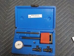 Central Tools 6405 0 100 Dial Indicator Gauge Set Great Condition