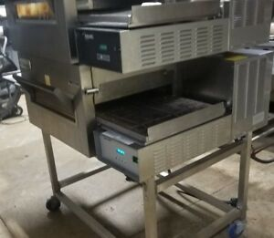 Used Lincoln Double Stack Electric Conveyor Oven Model 1132