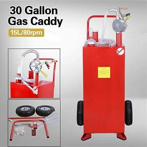 30 Gallon Gas Caddy Portable Tank Pump House Fuel Diesel Gasoline Container Auto