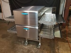 2014 Turbochef Hhc2620 Double Stack Conveyor Pizza Oven ventless video Demo