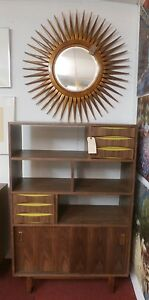 Mid Century Modern Style Danish Design Cabinet Entertainment Center Open Shelves