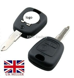 New 2 Button Remote Key Case For Peugeot 106 107 206 207 307 Logo A57