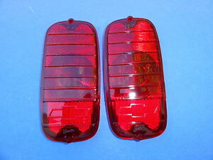 1964 1965 1966 Chevrolet Van Taillight Lens With Bowtie Pair New