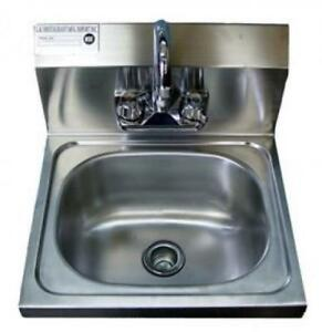 Stainless Steel Hand Sink 16 5 X 16 Nsf Commercial Equipment