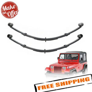 Pro Comp 51323 Rear 2 5 Lifted Leaf Springs 1987 1996 Jeep Wrangler Yj Pair