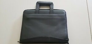 Leather 3 ring Zip Binder Organizer Drop Handles Scully Brand