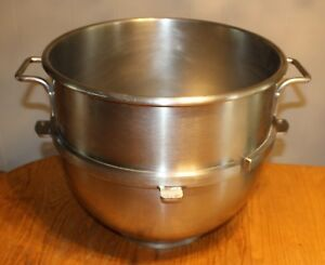 Used Hobart Model Vmlh 60 Stainless Steel 60 quart Mixing Bowl For 60 qt Mixer