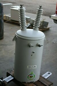 New Cooper 25 Kva Eaton Cooper Pole Mount Transformer 19920 34500 lv 277v