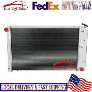 4 Row All Aluminum Radiator For 1970 1987 78 Chevy Nova Camino C10 c20 C25 c3500