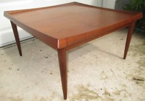 1960s Danish Teak Coffee Table By Moreddi Rare Mcm Eames Denmark Wegner Bin
