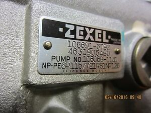Zexel Bosch Isuzu 106691 6792 Fuel Injection Pump New