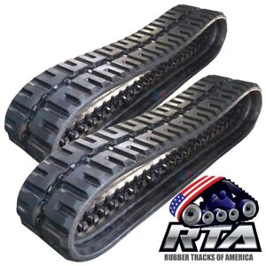 Two Rubber Tracks For Bobcat T250 T300 T320 T740 T750 T770 450x86x55 C lug Tread